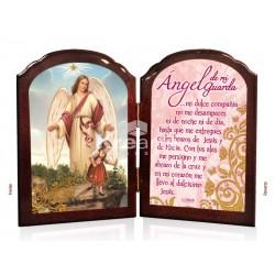 BD13 ángel de la guarda niña ORO