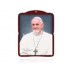20DEL54 Papa Francisco [rostro] PLATA