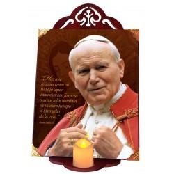 San Juan Pablo II capa roja